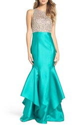 Xscape Evenings Women's Embellished Bodice Mikado Mermaid Gown