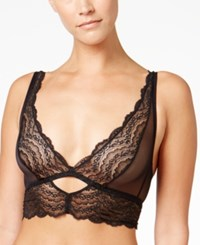 Cosabella Bisou Sheer Lace Cut Out Bralette Bisou0315 Black