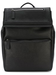 Salvatore Ferragamo Foldover Top Backpack Black