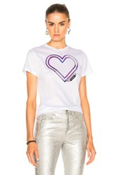Carven Heart Tee In White