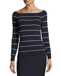 Grey By Jason Wu Striped Off The Shoulder Sweater Multi