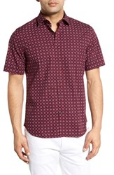Men's Toscano Regular Fit Geometric Print Sport Shirt