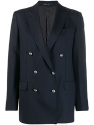 Tagliatore Double Breasted Blazer Blue