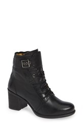 Fly London Iemi Buckle Strap Bootie Black