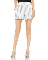 Vince Camuto Smocked Pinstripe Pull On Shorts Ultra White