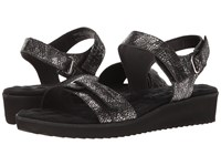 Walking Cradles Halle Black Silver Snake Women's Sandals