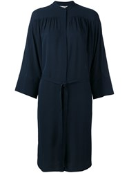 Vince Belted Dress Blue
