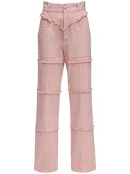 Ambush High Waist Denim Pants Pink