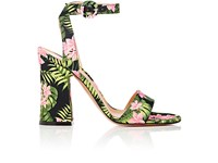 Gianvito Rossi Women's Tandi Satin Ankle Strap Sandals Black Light Pink Black Light Pink