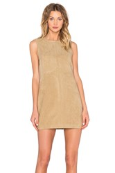 Shades Of Grey Seam Detail Shift Dress Tan