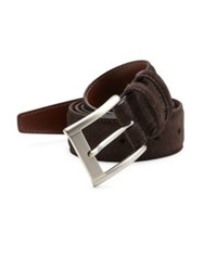 Saks Fifth Avenue Suede Belt Chocolate Brown