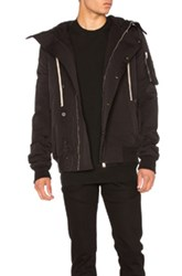 Rick Owens Drkshdw By Short Hooded Bomber Jacket In Black