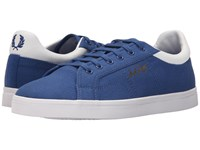 Fred Perry Sidespin Canvas 1964 Royal White Men's Lace Up Casual Shoes Blue