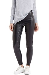 Topshop 'Wet Look' Leggings Black