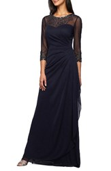 Alex Evenings Women's Embellished A Line Gown