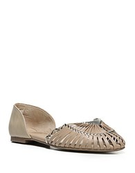 Fergie Nickle Leather Flats Sanddue