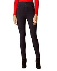 Karen Millen Nautical High Rise Leggings Dark Denim