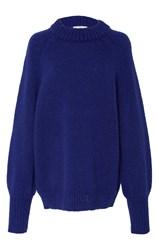Tibi Mohair Oversized Sweater Blue