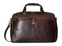Scully Hidesign Braxton Workbag With Padded Compartment Brown Bags