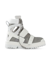 Hood By Air Velcro Strap Ankle Boots White