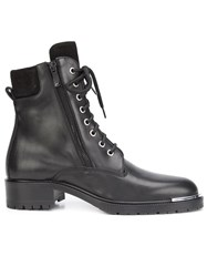 Barbara Bui Lateral Zip Lace Up Boots Black
