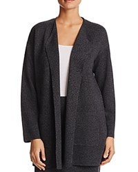 Eileen Fisher Long Open Front Cardigan Charcoal