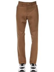 Burberry Classic Cotton Chino Pants Warm Walnut
