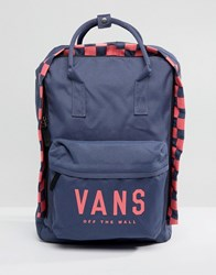 Vans Icono Square Backpack Navy Pink