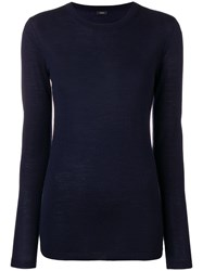 Joseph Round Neck Jumper Blue