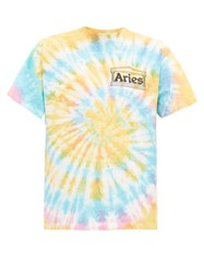Aries Temple Logo Tie Dye T Shirt Multi