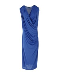 Caractere Dresses 3 4 Length Dresses Women Blue