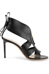 Nicholas Kirkwood Origami Cutout Leather Sandals Black