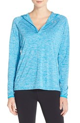 Women's Under Armour 'Twist' Split Neck Hoodie Dynamo Blue