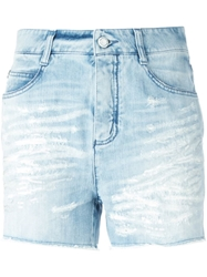 Ermanno Scervino Distressed Denim Shorts