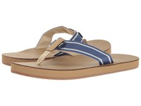Vineyard Vines Sailor Stripe Flip Flop Moonshine Men's Shoes Gray