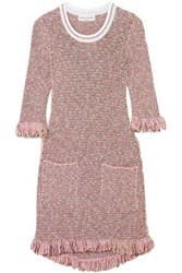 Sonia Rykiel Sequin Embellished Cotton Blend Tweed Mini Dress Baby Pink