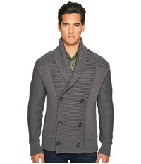 Vince Solid Double Breasted Cardigan Coat Sulphur Men's Sweater Gray