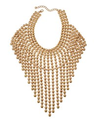 Lydell Nyc Oversized Statement Bib Necklace Gold