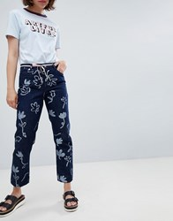 Paul Smith Ps By Floral Print Jean Blue