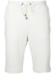 Estnation Drawstring Bermuda Shorts Men Cotton Xl White