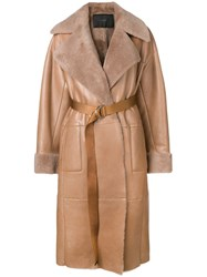 Blancha Belted Trench Coat Brown