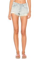 Free People Daisy Chain Lace Short Light Denim
