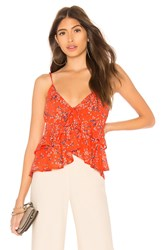 Line And Dot Emiri Top Red