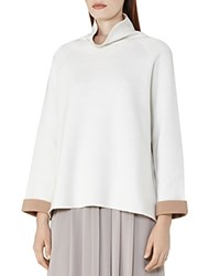 Reiss Chloe Funnel Neck Sweater Off White Taupe