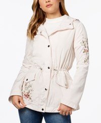 Coffee Shop Coffeeshop Juniors' Hooded Embroidered Anorak Angel Wing