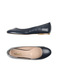 Clutch Footwear Ballet Flats Women Dark Blue