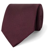 Tom Ford 8Cm Woven Tie Burgundy