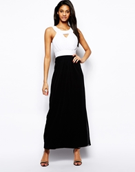 Elise Ryan Maxi Dress With Embellished Necklace Multiblackskirt