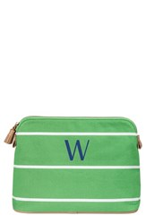Cathy's Concepts Personalized Cosmetics Case Green W