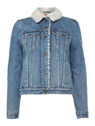 Levi's Vintage Sherpa Trucker Jacket Denim Light Wash